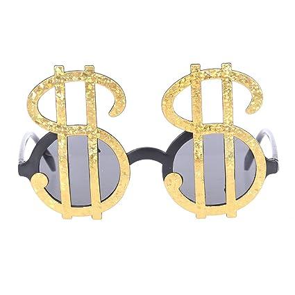 Novedad anteojos Tinksky Plastic Dollar Symbol Design Gafas ...