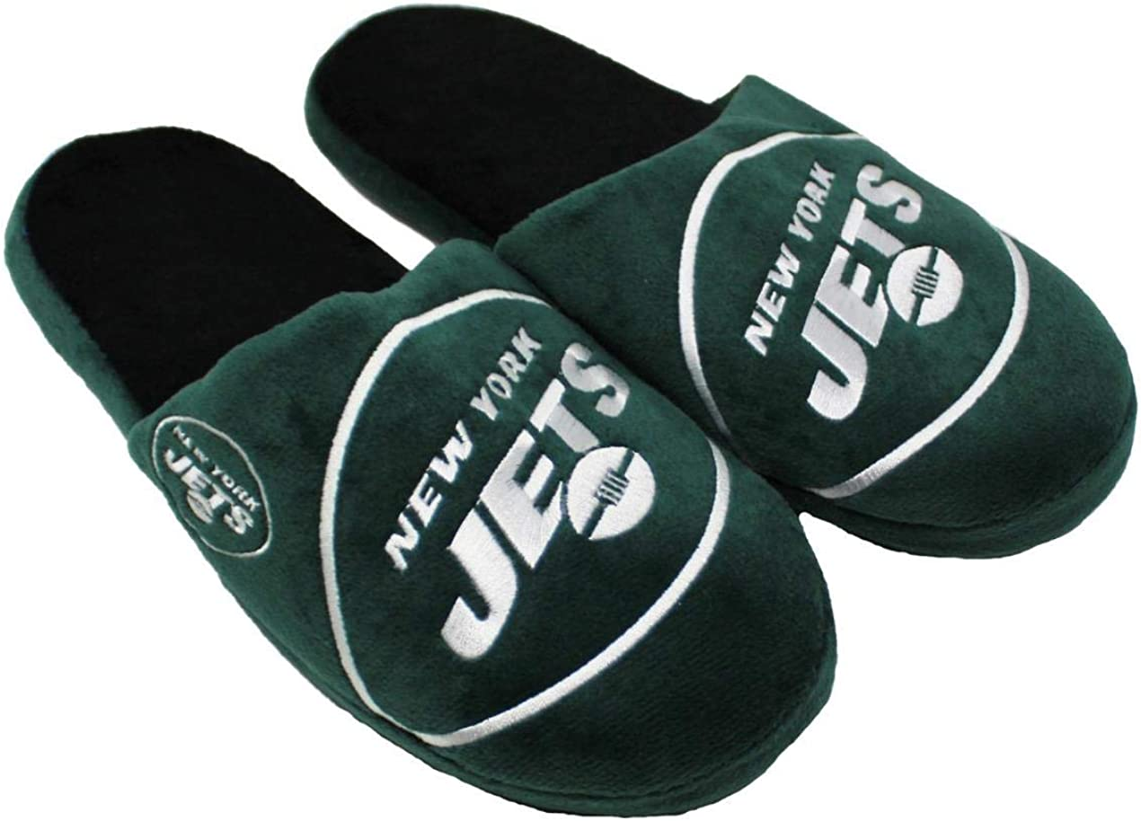 Forever Collectibles NFL New York Jets Mens Slip On Slippers