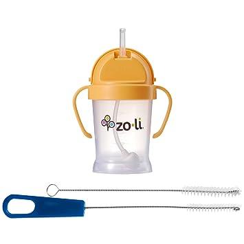 Orange 6 ounces ZoLi BOT Straw Sippy Cup