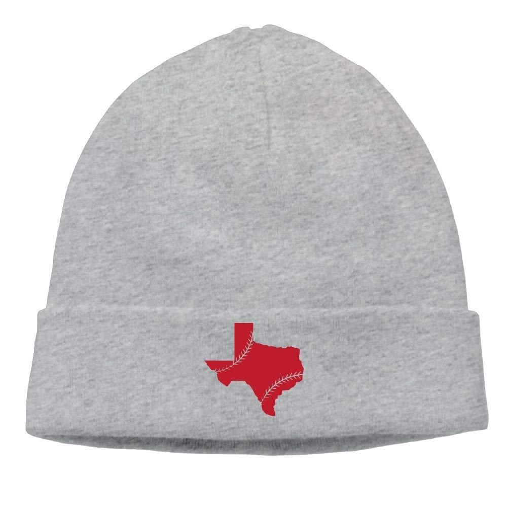 Texas State Baseaball Lace Unisex Wool Flock Cotton Knit Winter Warm Ski Hat Beanie Cap