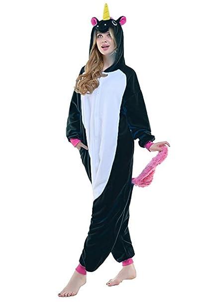 4a3e50211f Unicorno Costumi Pigiama di Carnevale Halloween Cosplay Costume OnePiece  Sleepwear Tuta Animali: Amazon.it: Abbigliamento