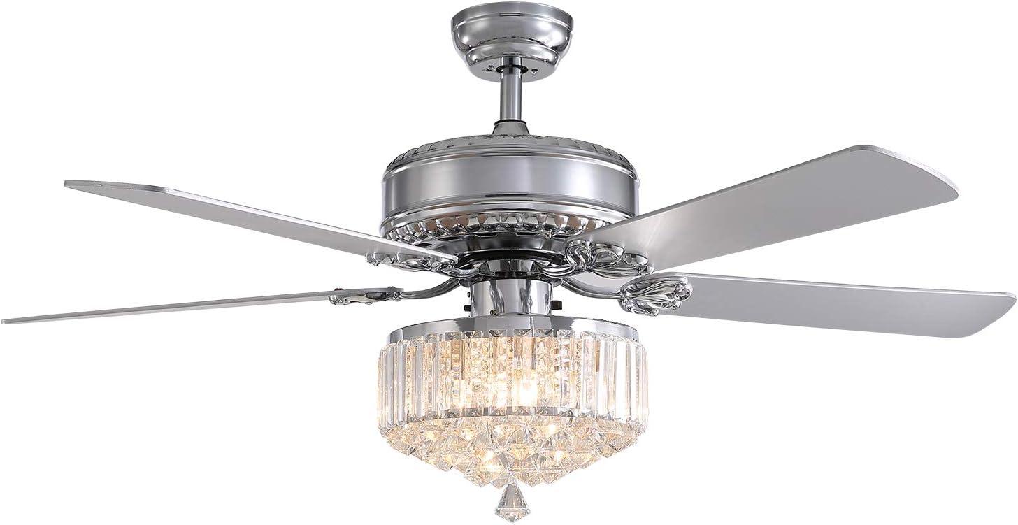 Long-awaited SILJOY Reverse Ceiling Fan with Lights 52