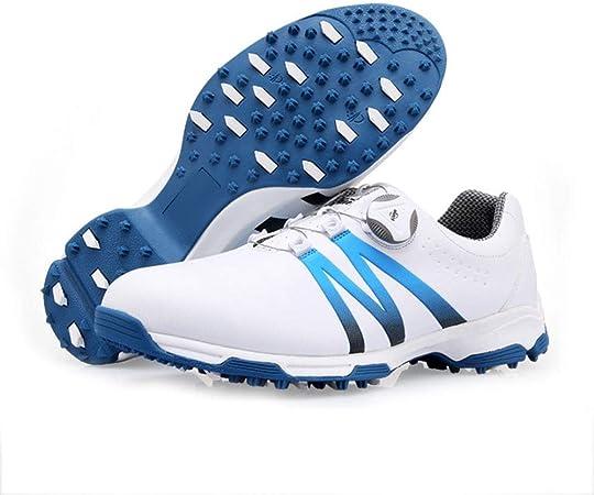 YYQIANG Campo de los Hombres de Las Zapatillas de Deporte giratoria Cordones de los Zapatos Impermeables y Transpirables (Color : Blue, Size : 40): Amazon.es: Hogar