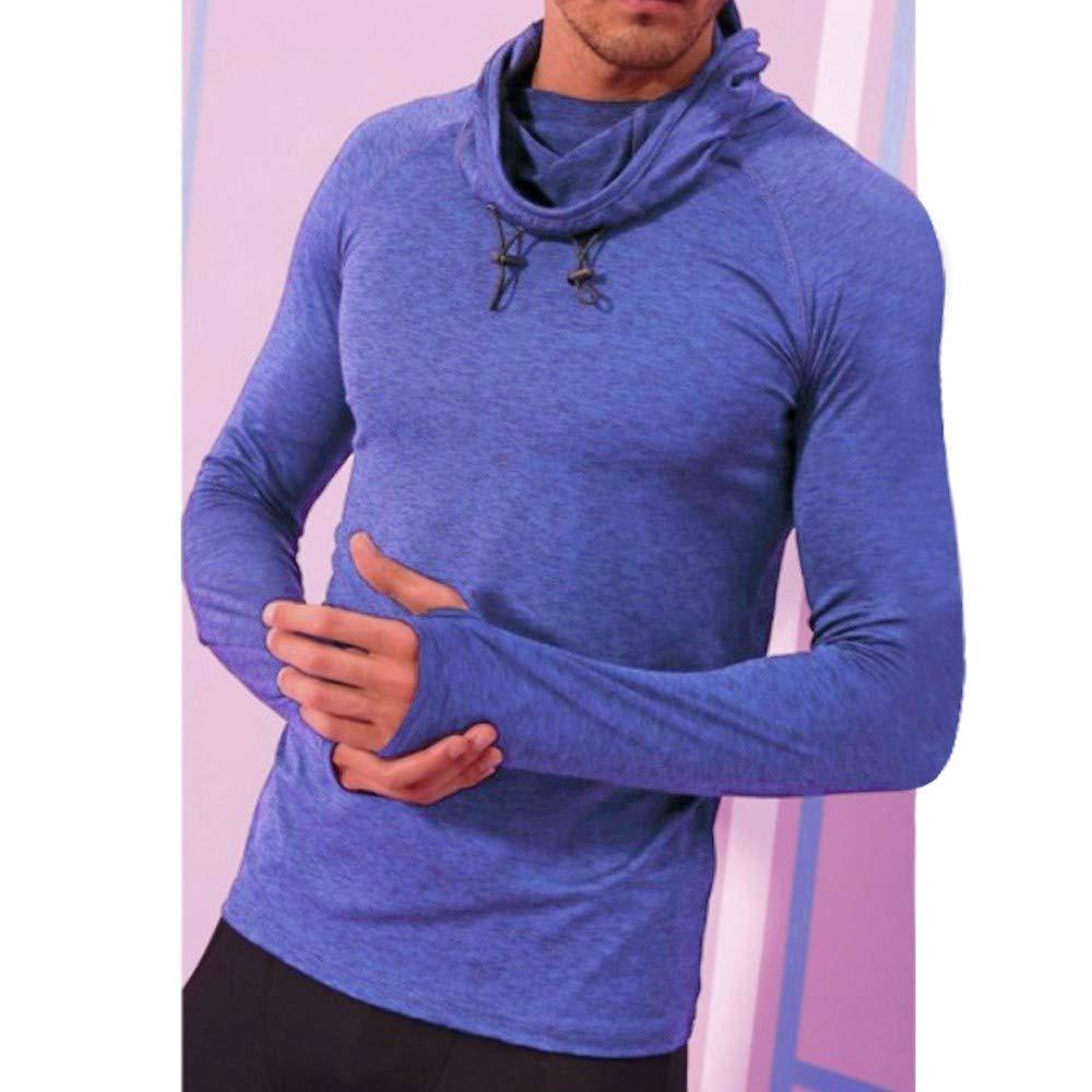 Sport Pullover Herren Briskorry Männer Herbst Winter Hooded