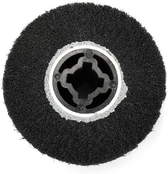 600 Grit Gray Join Ware 120x100mm 4-4//5 Non-woven Abrasive Flap Wheel Wire Drawing Polishing Burnishing Wheel for Polishing