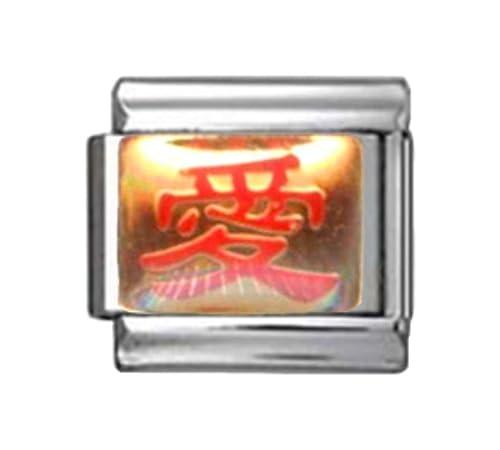 Love Chinese Symbol Good Luck Lucky Enamel Italian Charm 9mm 1 X