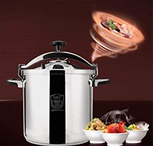 Commercial 304 stainless steel pressure cooker outdoor explosion-proof large capacity pressure cooker non-stick cooker induction cooker gas stove family kitchen hotel restaurant general 11L-20L