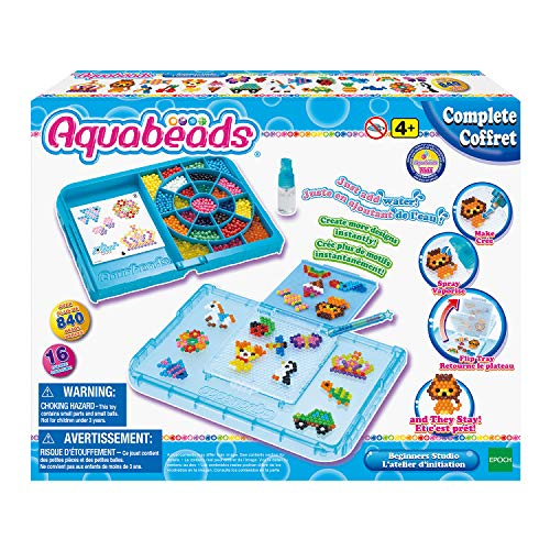 Aquabeads Beginner'S Studio, Kids Crafts, Beads, Arts & Crafts, Complete Activity Kit (Aqua Water Beads)