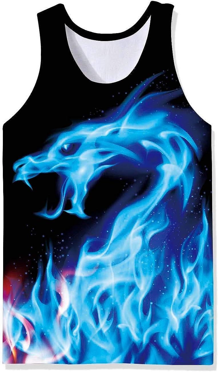 SpreadHoodie Uomo Canotte Realistica 3D Allover Stampato T-Shirt Senza Maniche S-XXL