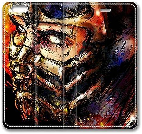 Amazon Com Mortal Kombat Scorpion Art Face Mask Iphone 6 Case