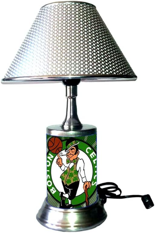 Rico Table Lamp with Shade, Your Favorite Basketball Team Plate Rolled in on The lamp Base, BC