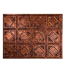 """Fasade Easy Installation Traditional 4 Moonstone Copper Backsplash Panel for Kitchen and Bathrooms (18"""" x 24"""" Panel)"""