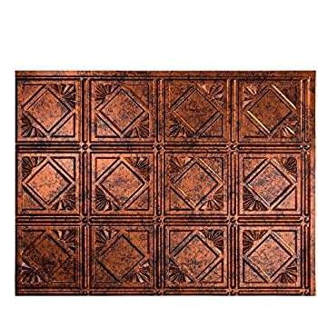 Fasade Easy Installation Traditional 4 Moonstone Copper Backsplash Panel  for Kitchen and Bathrooms (18
