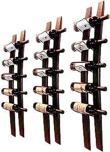 CMCNCBC Barrel Stave Wine Rack, Wall Mounted Wood Wine Rack, Wine Bottle Holder Towel Rack, 6 Wine Bottle Rack Holder Shelf Rustic Wood Wall Wine Rack ( Red Wine Rack )