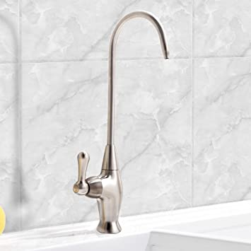 Comllen Best Commercial Stainless Steel Prep Sink Cold Water Bar Sink  Drinking Water Faucet, Brushed