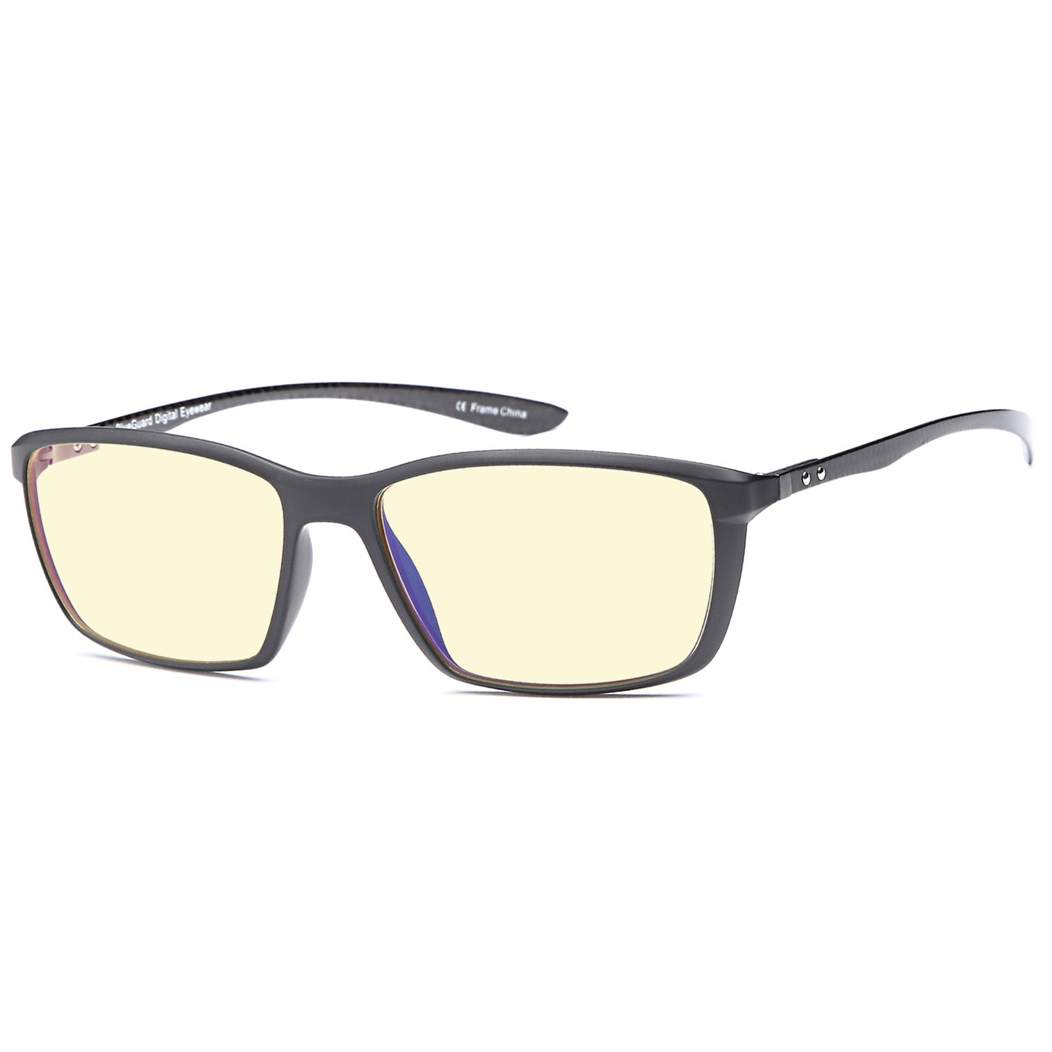 TRUST OPTICS FeatherView Computer Video Gaming Glasses w UV400 Anti Glare High Frequency Harmful Blue Light Lenses in Navy TR90 and Carbon Fiber Construction Frame