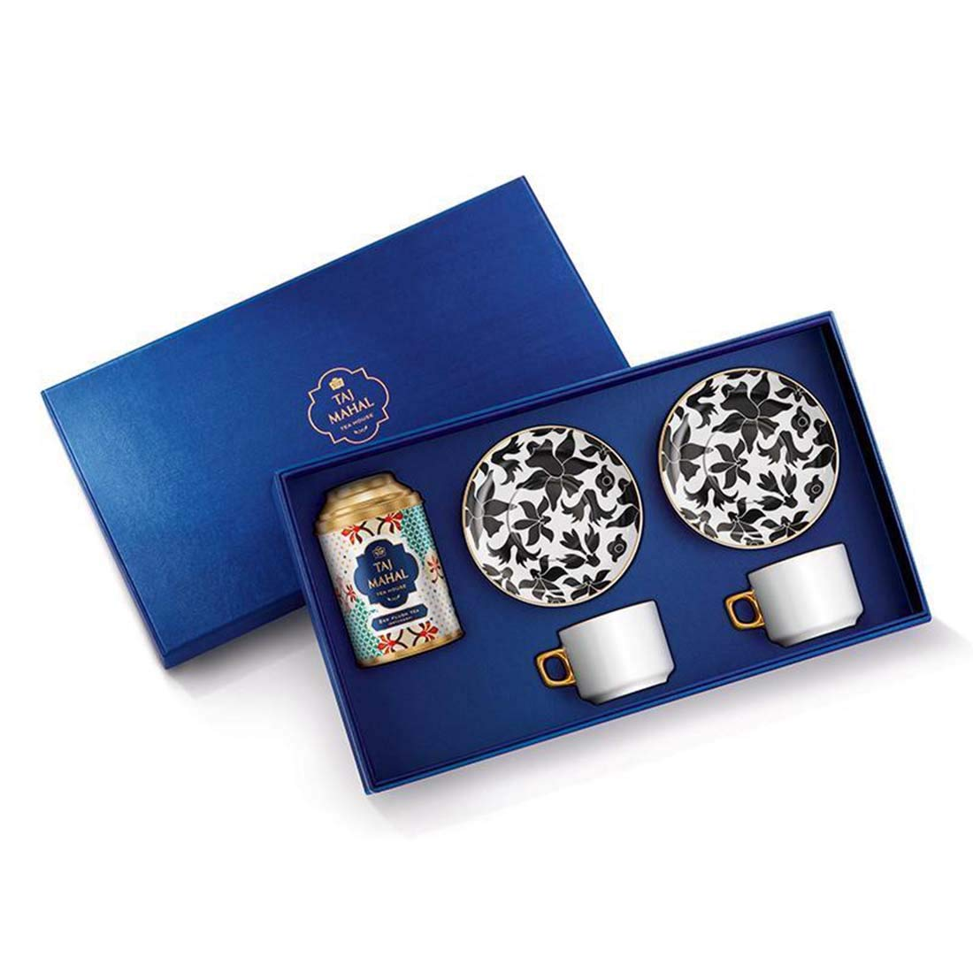 India Taj mahal Gold-tone Square Cufflinks with Select Gifts Pouch