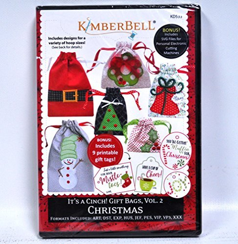 Tree Embroidery Design - CD It's A Cinch Gift Bags, Volume 2: Christmas Machine Embroidery CD by KimberBell