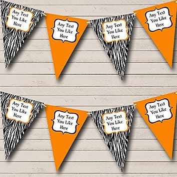 Zebra Print /& Yellow Personalised Birthday Party Bunting