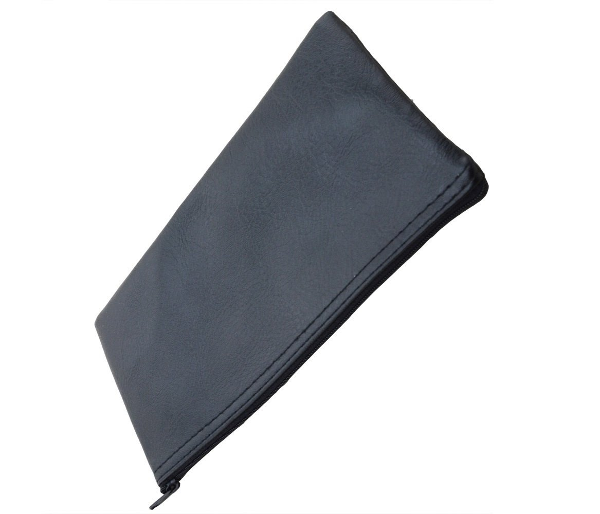 Black Zipper Microphone Pouch Bag fits Shure Wireless Handheld Transmitter 11.6 Inch Boly For SM58