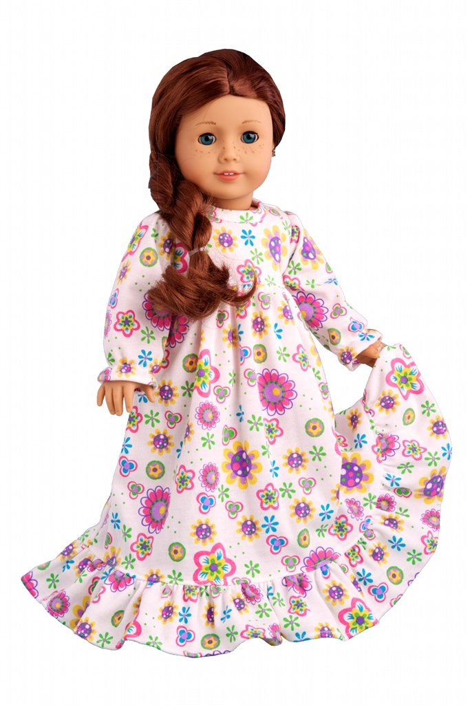 Good Night - Cotton nightgown - for 18 inch dolls
