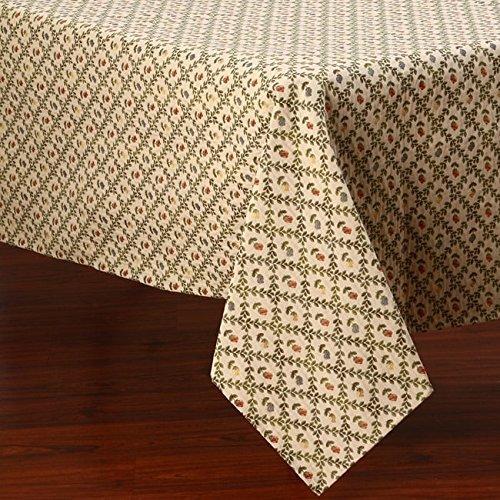 Corona Decor Vine Floral Design Italian Heavy Weight Tablecloth 50 by 90-Inch Green [並行輸入品]   B07N8CSSBV