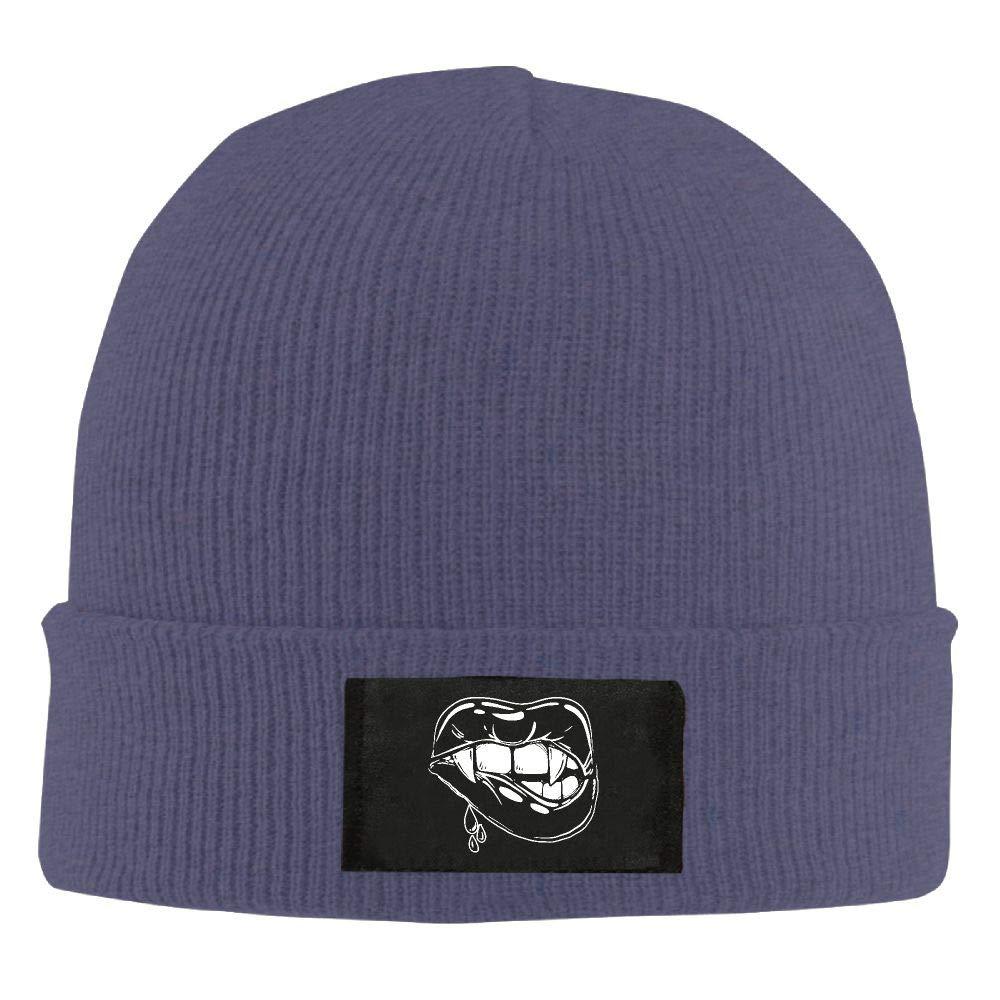 DLOAHJZH-Q Adult Unisex Vampire Lip Dancing Knitted Hat