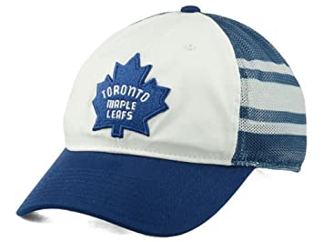 3b541c69ff3 Reebok NHL Toronto Maple Leafs Jersey Hook White Blue Mesh Flexfit Hat Cap  (Small Medium)