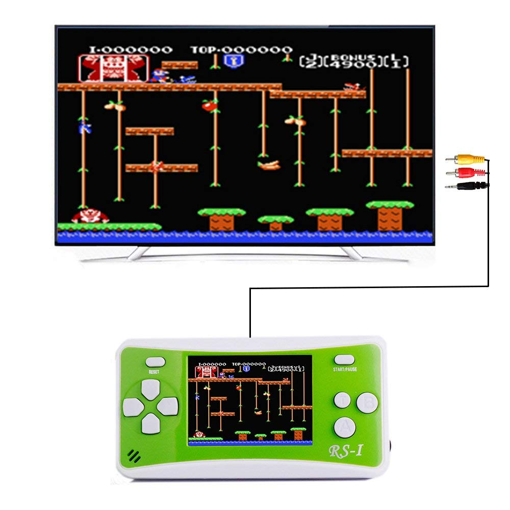 SKYRC Handheld Game Console for Kids,Classic Retro Game Player with 2.5'' LCD 8-Bit Portable Video Games Compatible with PAL AAD NTSC TV ,152 in 1 Classic Games -- (Green) by SKYRC (Image #2)
