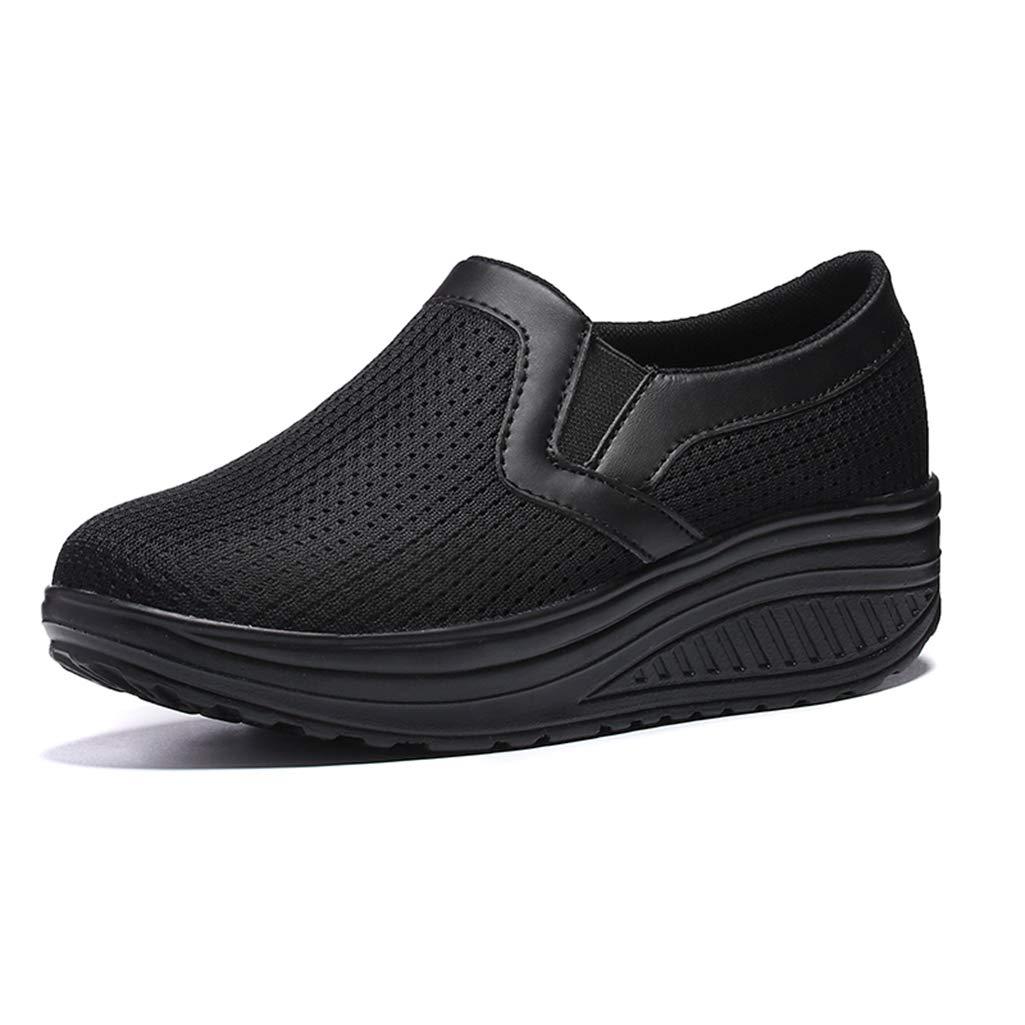 6b030de6c7ca5 Amazon.com: DETAIWIN Women's Platform Wedge Loafers Comfort ...