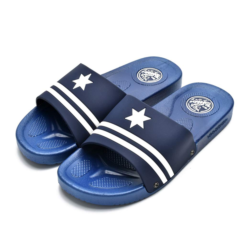 Style 8 AX-ATG Mens Slippers Summer Indoor Bathroom Non-Slip Slippers Outdoor Thick-Soled Wearable Beach Shoes