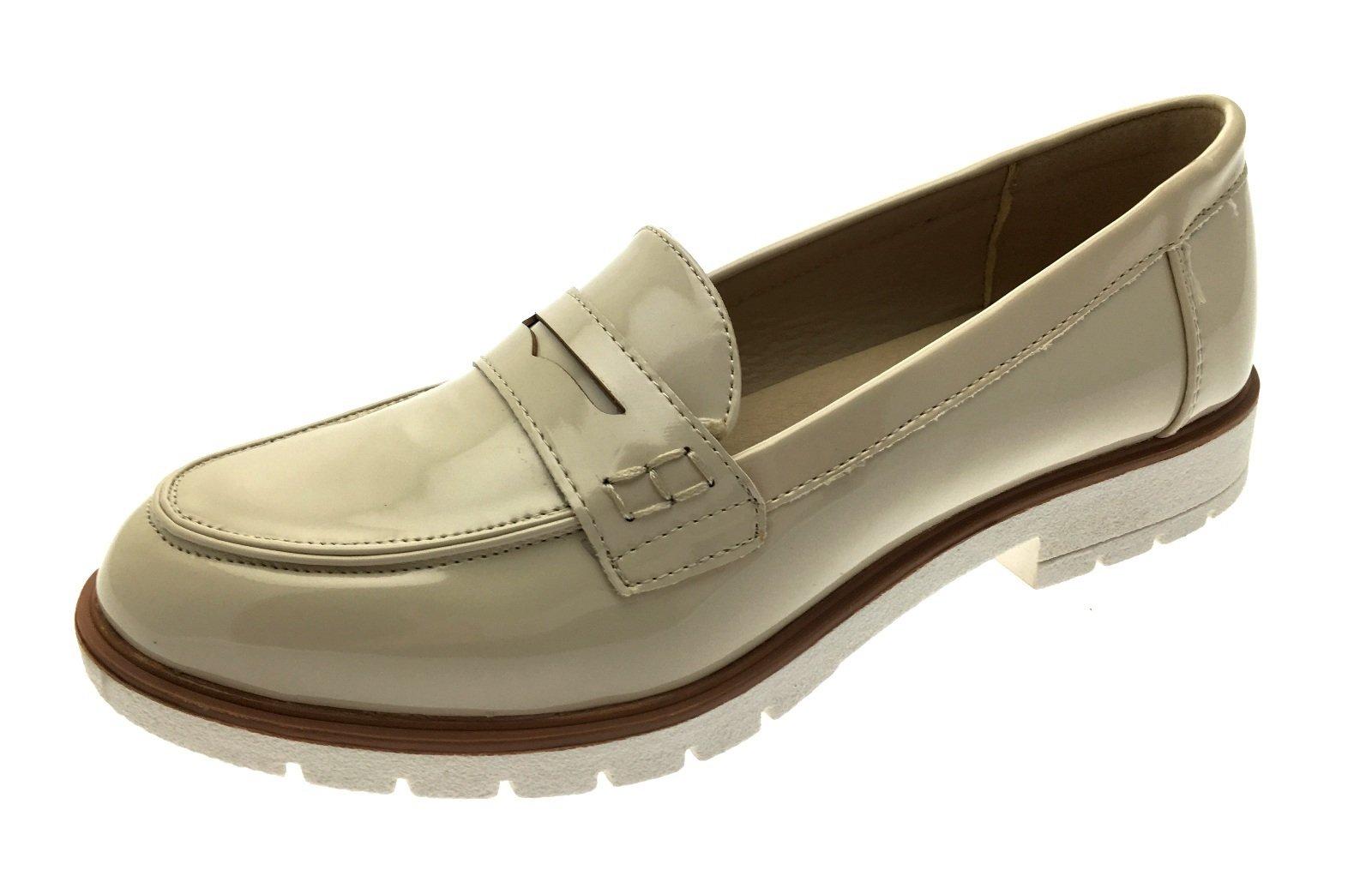 a0e779b67a1 Lora Dora Womens Faux Leather Loafers