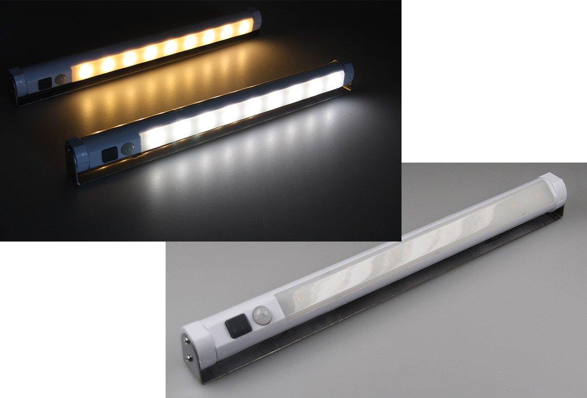 LED Unterbauleuchte mit Bewegungsmelder Batteriebet., 9 SMD LEDs ...