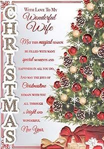 Maravillosa esposa Tarjeta de Navidad–'con amor a mi maravillosa esposa'