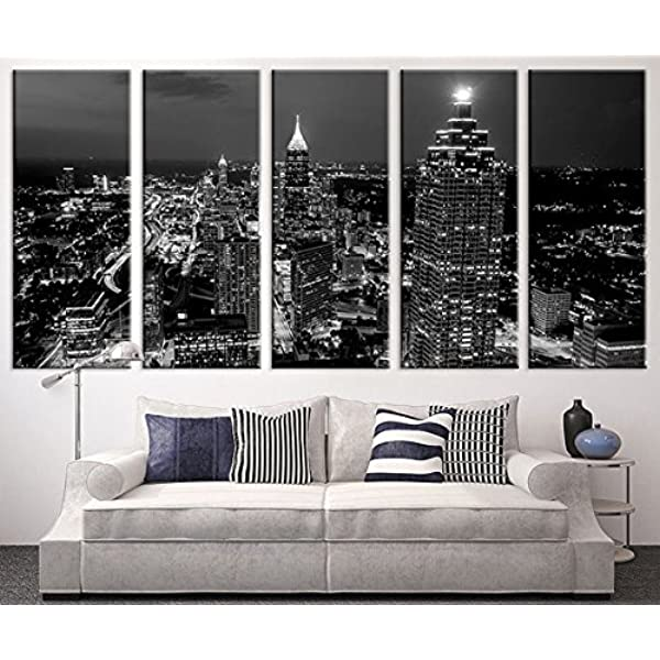 Night city Home Decor Canvas Print choose your size.
