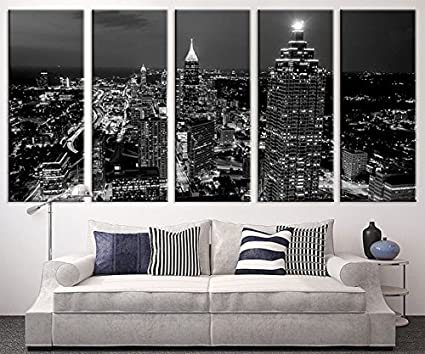 amazon com extra large art atlanta night canvas art print large