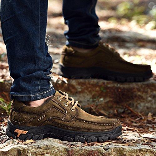 Miyoopark UK-XCR9887B, Herren Sneaker, Dunkles Kaki - Größe: 38