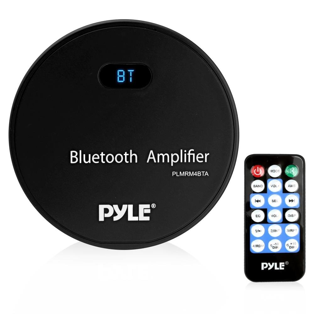 Pyle Marine Stereo Receiver, Bluetooth Amplifier, Water Resistant, MP3/USB/AUX, Wireless Streaming Used with Boat, Automobile, Off-Road, Mobile and Marine Vehicles, Wireless Remote Control (PLMRM4BTA) Sound Around