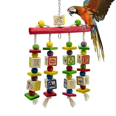 LCY-YCY Juguetes para pájaros Loros Pájaros de pie Comidas para ...
