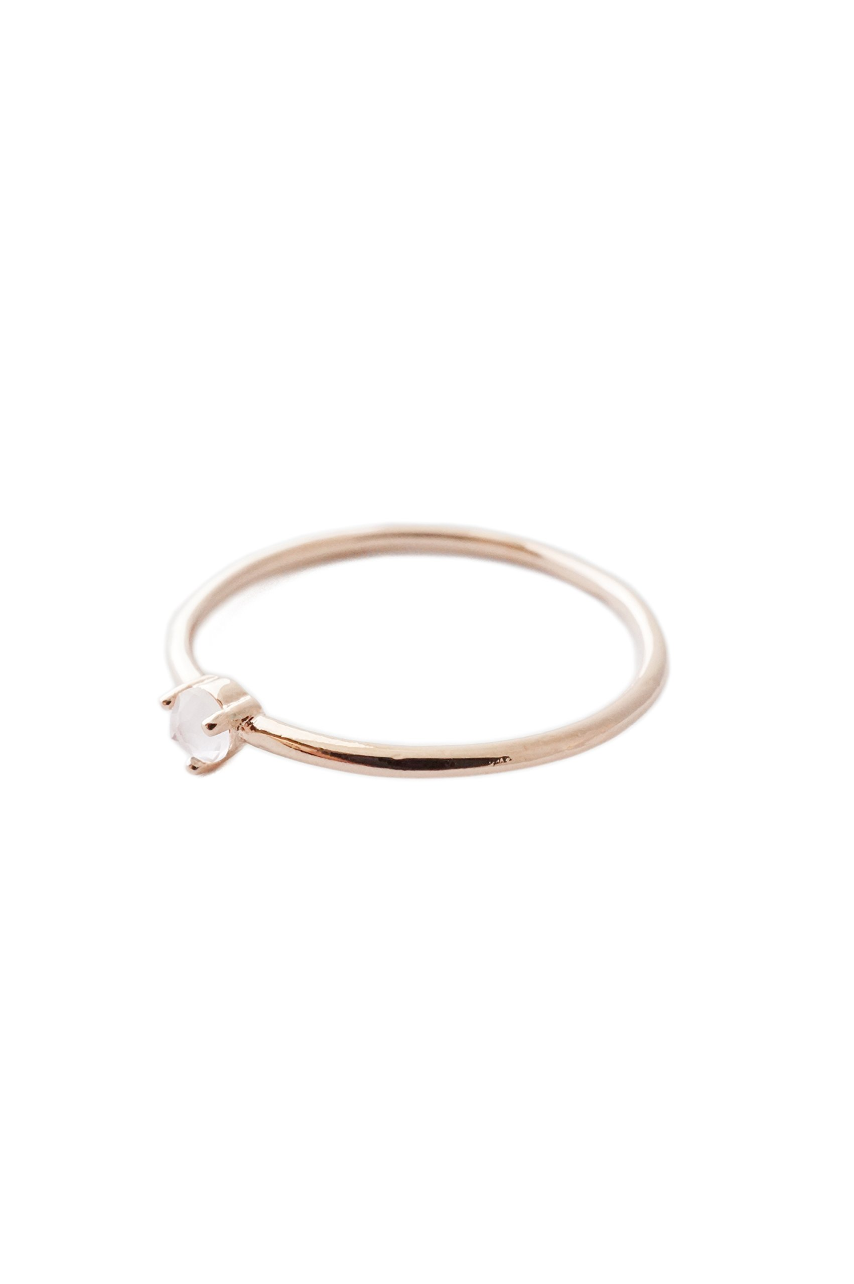 HONEYCAT Rose Quartz Crystal Point in 18k Rose Gold Plate | Minimalist, Delicate Jewelry (Rose Gold 6)