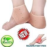 GULIQ 2 Pairs of Heel Sleeves Socks, Breathable Gel Heel Protector Sleeves - Plantar Fasciitis Inserts, Gel Heel Cups Pads Cushion Heal Dry Cracked Heels, Achilles Tendinitis, for Men & Women