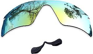 Solarium Polarized Replacement Lenses & Nose Pads Compatible with Oakley Radar Range Sunglasses