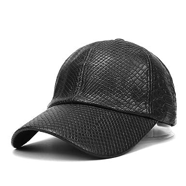 PU Leather Baseball Cap Hat Solid Caps Hats Unisex