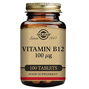 Solgar - Vitamin B12, 100 mcg, 100 Tablets