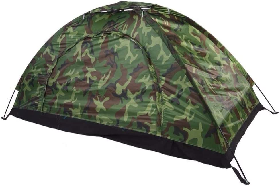 Tent SISI Shop 1-4 Personne Portable Camping en Plein air Camouflage Camping en Plein air de Loisirs Double Couple Camping Ultraviolet épreuve 8.10 2 person