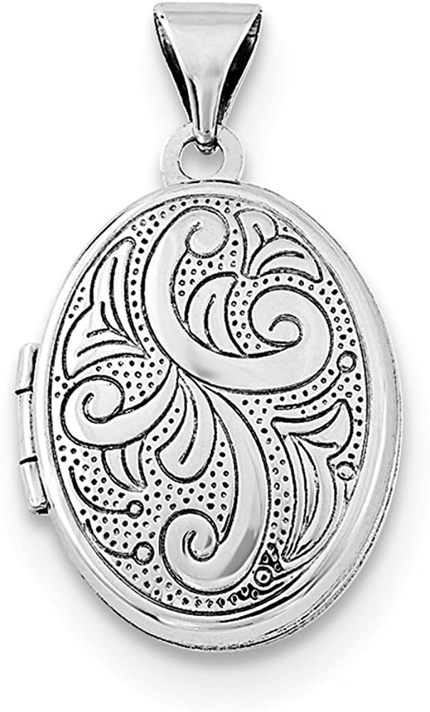 Sterling Silver Girls .8mm Box Chain Open Diploma Scroll Pendant Necklace