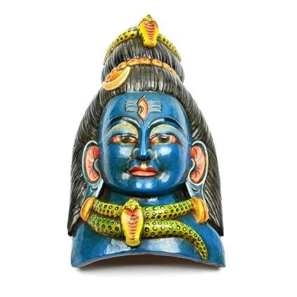 Amazon Com Nepalese Wood Carving Handicraft Hand Crafted Shiva