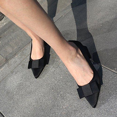 Il Sandali con grassetto profonde Alla Moda 38 Tie filtro nero poco Bow bocca Donna 5cm scarpe AJUNR solo Da Damasco tacchi calzature suggerimenti alti fxdZcanqfX
