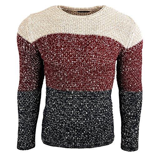 Subliminal Mode Herren Jumper Sweatshirt rot rot XL