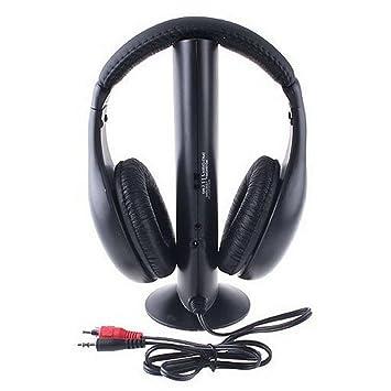 omiky 5 en 1 Auriculares Auricular inalámbrico de auriculares y micrófono aislamiento del ruido elástico ajustable